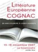 Salon de la littérature européenne de Cognac 2007