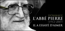 HOMMAGE A L'ABBE PIERRE (1912-2007)