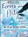 Ecrits et dits 2006