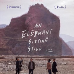 An Elephant Sitting Still - Affiche