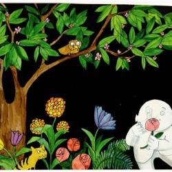 Dessin pour Jean de la Lune, vers 1966