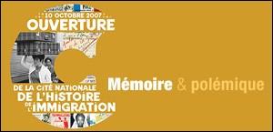 OUVERTURE DE LA CITE NATIONALE DE L'HISTOIRE DE L'IMMIGRATION